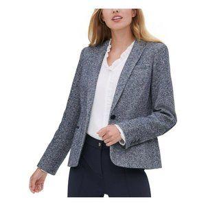 NWT Tommy Hilfiger Gray Marled Blazer Jacket